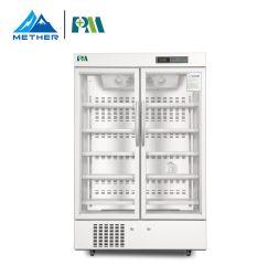 대용량 656L 이중 도어 수직 스탠드 의료 약물 백신 LED 내부 조명이 있는 냉장고