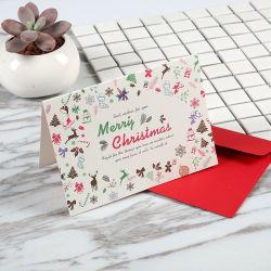 Los mejores deseos para usted el papel de felicitación navideña de la tarjeta de regalo