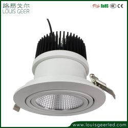 30W de lumière LED Downlight LED à gradation ronde, Sharp COB Downlight LED, réglable