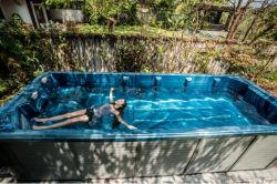 따뜻한 세일 야외 온수 욕조 스파 욕조 끝없는 수영 스파 수영장
