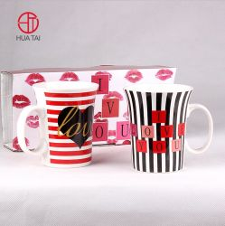 Hersteller Direct Modern Simple Style Stripe Decal Keramik Becher Zweiteilig Setzen