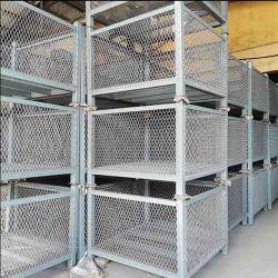 سقالة مربّعة أنابيب منصّة نقّالة مع [وير مش] فولاذ سقالة تخزين منصّة نقّالة