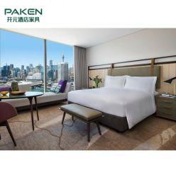 Quarto de luxo moderno em madeira personalizado 5 estrelas Villa Apartment Resort Hotel Mobiliário mobiliario de quarto de hotel