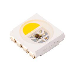 Calidad Premium SK9822 Apa102 8pin lado Digital de 5V 5050 Color RGBW IC chip de LED flexible de la luz de la banda