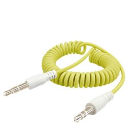 Comercio al por mayor de China en espiral de alambre de resorte de 3,5 mm estéreo Cable de audio