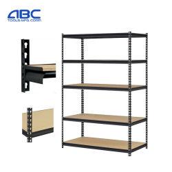 Estanterías de almacenamiento de metal pesado Hierro/metal/acero inoxidable Boltless el apilamiento de las estanterías de almacén para mostrar