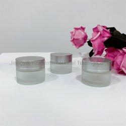 دورق زجاجي شفاف شفاف 15g/ml من قشدة شفافة صغيرة دورق بغطاء خارجي من الألومنيوم الفضي غير اللامع
