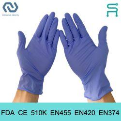 510K En455 FDA CE قفازات فحص النتريل القابلة للاستخدام لمجالات متعددة استخدم