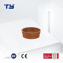 엔드 캡 물은 배관공사 정가표 제조자 PVC-U에 주황색 플라스틱 배수장치 관 이음쇠이라고 상표를 붙인다