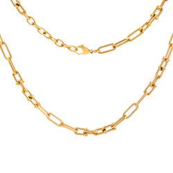 سلسلة روابط شوكر على شكل U على شكل حرف U لهدية Facshion 18K Gold Chunky مجوهرات من الفولاذ المقاوم للصدأ متصلة بكلة Pinball
