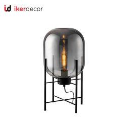 주문을 받아서 만들어진 창조적인 최상 유리와 탄소 강철 현대 LED 테이블 램프