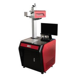 Marcado de la máquina de grabado láser de fibra de plástico/metal/PVC/Goma