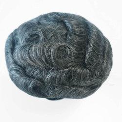 100% Natürliches Menschliches Haar 100% Unverarbeitetes Haar Hohe Quaility Ultra Dünne PU-Basis Männer Haarteil Haarersatz-Systeme