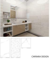 Mosaico de la pared de cerámica esmaltada en color blanco brillante para la decoración de baño y cocina 300x600mm