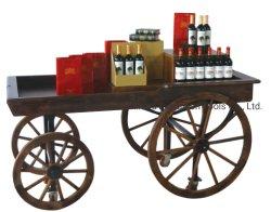 100 % de madeira maciça de Exibição de madeira Cart, varejo exibe, vagões de madeira Carrinho de Fornecedor