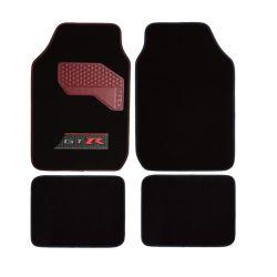 Carpet-Floor-Nattes de quatre pièces ensemble pour voiture - Rubber-Lined All-Weather Protection pour tous les véhicules, PVC antidérapante arrière