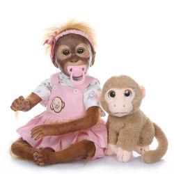 20 polegadas 50cm de lado verdadeiramente renascer pintura detalhadas Monkey Bonecas bebê muito Macia Real de vinil de silicone flexível Arte coleccionáveis recém-Doll olhar realista