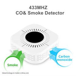 Draadloze batterijvoeding dubbele sensor rook- en koolmonoxidedetector CO-gas-alarm