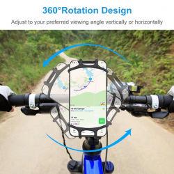 工場価格のシリコーンのバイクのための調節可能で適用範囲が広い移動式携帯電話のホールダー