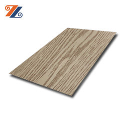 스테인리스 스틸 나무 그레인 패턴 컬러 시트