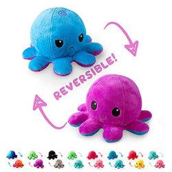 Werbegeschenk Angry Face Flippable Meer Tier Plüsch Spielzeug Mürrischer Krake Plüsch