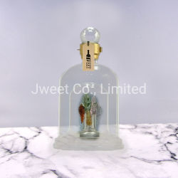 Hoher Borosilicat-handgemachter Fertigkeit-Alkohol-Wein-Flaschen-Wodka-Glasflasche