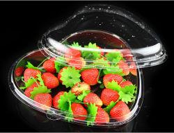 심혼 모양 플라스틱 딸기 또는 들쭉 또는 사탕 포장 상자 음식 콘테이너 상자