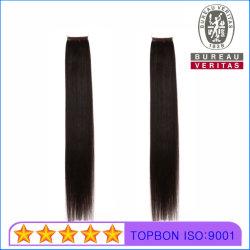 Um cabelo humano cabelos lisos brasileira não transformadas de penas de extensão de cabelo