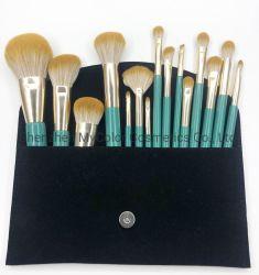 Роскошный макияж сумку с логотипом порошок Eyeshadow Кабуки окрашивание макияжа наборы щетки вращающегося пылесборника