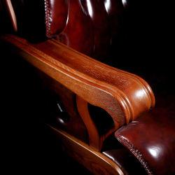 10의 피마자 단단한 나무 팔걸이 기초를 가진 부사장을%s Executive Boss 최고 호화스러운 가죽 회전대 사무실 의자