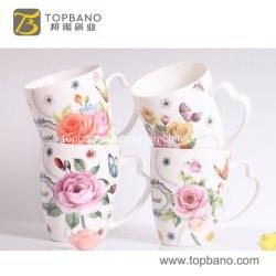 Commerce de gros Eco Friendly pleine tasse de café en céramique de couleur indépendant approvisionné en céramique tasse d'emballage de la Chine