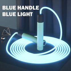 야간 LED 라이트 업 점프 로프 2.8m 길이 성인 조절식 어린이 스포츠, 피트니스, 장난감 티크토크, PU TPU 광 케이블