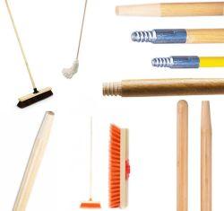مقبض عمود الخيزران، عصا التحكم، عصا التحكم، غبار MOP، من الخشب الصلب مع حامل الدفع وحز الرأس المعدني لمكبس المفاتيح