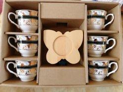 Nuovo design Set caffè tazza di caffè ceramica Saucer Bone Cina Set da tè