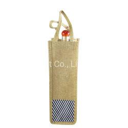 Custom прочного экологически чистые белые и красные вина магазинов джута льняной бутылка для напитков в сумке на подарок