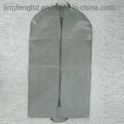 Saco para roupa não tecidos simples com janela de correr no bolso