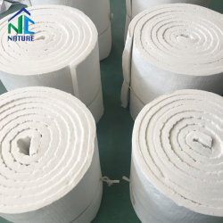 China 1.260 c 1350c 1430c 96 kg/m3 manta de fibra cerámica para las paredes del horno,manta aislante térmico, 7200x610x25mm 3600x610x50mm,Tamaño Personalizado Zibo refractarios