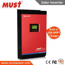Hybrid 24V 48V ligado/desligado de retenção da grade 2KW do inversor de energia solar de 3 kw 4 kw 5 kw com MPPT Controlador de Carga Solar 80A e função paralela para projeto de Eletrodomésticos