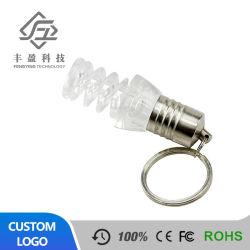 Factory Direct lampe de feu de gros en vrac de lumière LED Lecteur Flash USB avec lumière colorée et le logo personnalisé