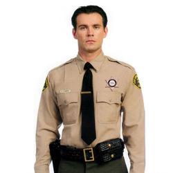 Eenvormige Overhemden van de Veiligheidsagent van het Hotel van de katoenen de Korte Luchthaven van de Koker voor Mensen