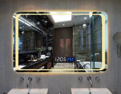 Salão de Espelho/Sala de cosméticos/Casa de Banho/WC/Dual Channel de alto-falante Bluetooth/Hotel Engenharia/contactor de tela de toque multifuncional 600x800mm espelho LED