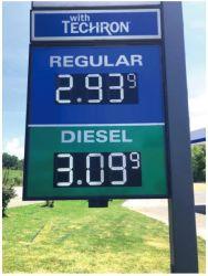 شاشة عرض أسعار الغاز LED الرقمية من 7 مقاطع