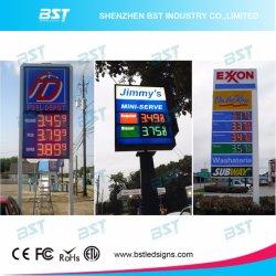شاشة LED لعرض أسعار الغاز ذات السطوع العالي في الهواء الطلق