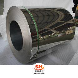 Bobina dell'acciaio inossidabile della superficie dello specchio del materiale da costruzione ss (grado 316L, 317L, 321L, 904L di AISI)