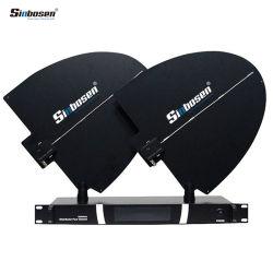 Sinbosen 전문가 UHF 무선 마이크 4 채널 단계 안테나 증폭기
