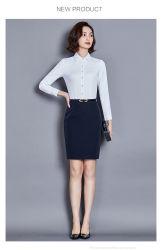 2019 최고 급료 Uniform Designs 호리호리한 적합 여자 셔츠 및 블라우스를 위한 실크 시퐁 또는 면 사무실 셔츠 숙녀