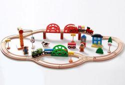Горячий Christams подарок 120 ПК на поезде из дерева для детей и детей