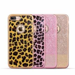 Fall des Handy-Leopard-TPU mit Diamanten für iPhone 7