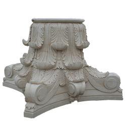 Sculptures de Pierre OEM solide capital ronde colonne de marbre
