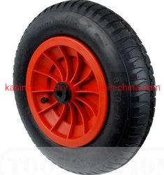 Carretilla de mano de la rueda hinchable de 15 pulgadas/Aire 3.50-8 rueda con llanta de plástico